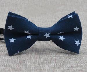 Moda Plaid Stampa Bambino Papillon Unisex Dots Baby Boy Cartoon Collare Bowtie Cravatta Skinny Collo Cravatta Per Abiti Five-Stars Bowtie GA105