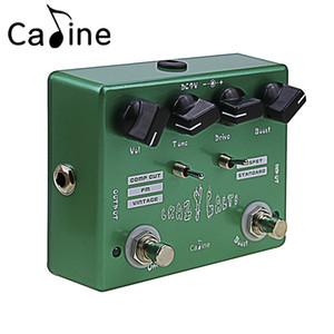 Caline CP-20 Crazy Cacti ON / OFF LED تأثيرات الغيتار Overdrive دواسة سبائك الألومنيوم الإسكان أخضر اللون غيتار التبعي.