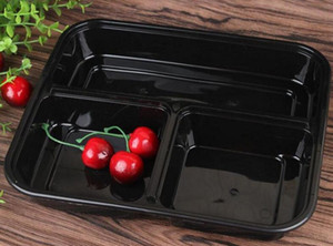 3 Отсеки Микроволновая печь обед хранения Одноразовые Meal Prep Контейнеры + Люки Bento Box Lunch Box лоток с крышкой Meal Prep порционная