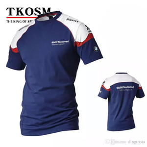TKOSM 2017 Motosiklet T-shirt BMW Moto GP Tişört Motokros Çapraz Ülke T-shirt Esneklik Terleme Yarış Motosiklet Gömlek