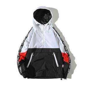 Einaudi Kapuzenjacken Männer 2018 neue Patchwork Farbe Block Pullover Jacke Mode Trainingsanzug Lässig Mantel Männer Hip Hop Streetwear