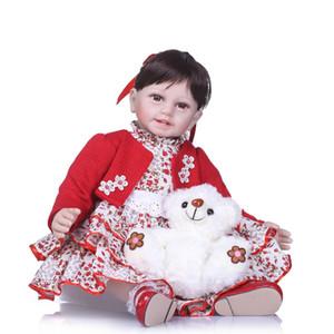 """Reborn baby girl toddler dolls bebe renace 22 """"55 cm de silicona de vinilo baby dolls reales vivos princesa muñeca juguetes para el regalo del niño"""