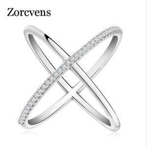 ZORCVENS 2018 최신 디자인 무한 링 36 조각 마이크로 포장 CZ 패션 여성 실버 컬러 반지 도매