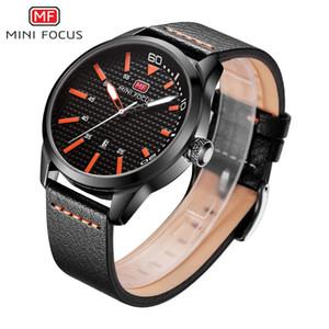 MINIFOCUS Brand Fashion Casual Sports Watches Men Analog Quartz Watch Leather Waterproof Date Clock Male Relogio Masculino MF0021G