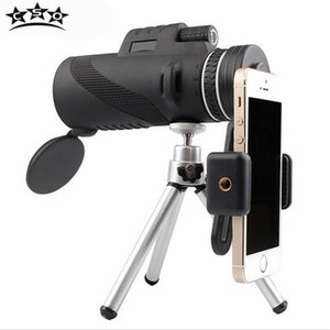Toptan 40X60 Monoküler Tüm Optik HD Hiçbir Kızılötesi Teleskop Monoculo Lens ile Kapaklar Tripod Evrensel Kamera Adaptörü Avcılık Açık