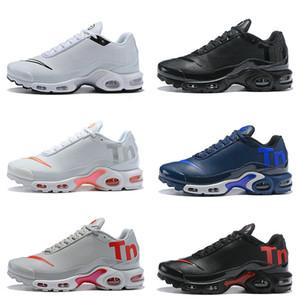 2018 Nuevo para mujer para hombre Mercurial Plus Ultra Tn SE Negro Blanco Rosa Desinger de los zapatos corrientes hombres de cuero de deportes al aire libre Tns Entrenadores zapatillas de deporte