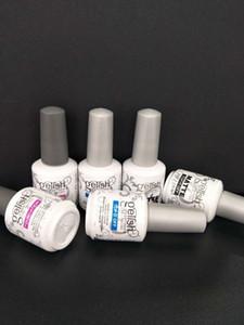Top qualité Soak Off Nail Gel Polish Nail Art Gel Laque Led / uv Gelish Base de fondation Manteau / couronner le tout / top mat hors tension 10pcs