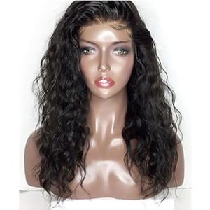 Entradas Naturales Suave Negro / Borgoña / Marrón Sintético Kinky Rizado Encaje Frontal Pelucas con pelo de bebé Parte libre resistente al calor Peluca barata para mujer