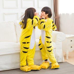 Costumi Cosplay Flanella Unisex Baby Pigiama Tigre Pipistrello Cosplay Cartoon Sleepwear Natale Animal onesies pigiama con cappuccio One Piece Pigiama