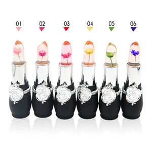 Flower Crystal Jelly Lipstick Magic Temperature Change Color Lip Balm Makeup Non-stick Cup Long-lasting Lipstick 6 Styles