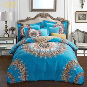 Yeni Bohemian Nevresim Set 4-Piece / Set Kraliçe Kral Sıcak Yatak Set Kış için 100% Pamuk Yatak Keten Yatak Setleri Toptan