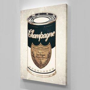 """Sin marco / Alec Monopoly """"Champagne Can"""", HD Impresión de lienzo Decoración para el hogar arte de la pared pintura, cultura del arte de oficina"""