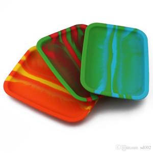 Acuarela Cajas de almacenamiento placas de hojalata laminado de metal bandeja Moda bandejas Placa práctica del silicón del estilo de la venta caliente 15yj ZZ