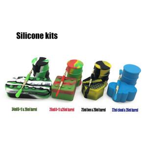 Trousse à outils en cire à base d'huile de silicone avec baril de 26 ml Barils de 22/25 ml 6 + 1 outils pour dabber en titane pour kit de tamponnage à la cire