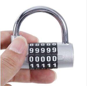 5 Dígitos Contraseña Bloqueo de Seguridad Gran Grillete Combinación Candado Gimnasio Gabinete Cerradura Armario Armario Bloqueo Seguro Cerradura Mediano