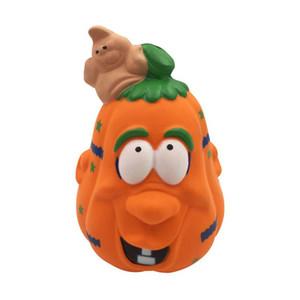 Neue Praktische Witze Simulation 12 cm Kürbiseis Squishy Langsam Steigenden Halloween Squeeze spielzeug Dekompression Kinder Spielzeug cartoon Neuheit spielzeug