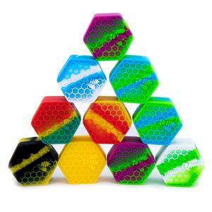 Honeybee Hexagone Silicone Container Pots en silicone antiadhésive
