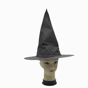 أسود أكسفورد المواد العفريت قبعة هالوين ساحرة تأثيري الدعامة هاري بوتر قبعة سحرية هالوين قبعة الساحرة زي حزب الدعائم