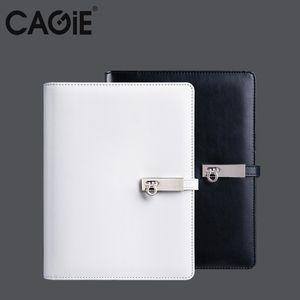 CAGIE 2017 Espiral Preto / Branco Notebook A5 / A6 Viajantes Diário Planejador Organizador Agenda Escritório / Escola Filofax Presente de Aniversário