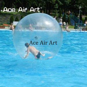 Bestes pricce Großhandelswasserparkspielzeug Zorbing gehender Rollen-Ball, gehende aufblasbare Fußwege des Wassers auf Wasserball mit Luftpumpe