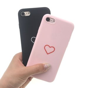 Fashion Love Heart Hard Pc Case Lindo Ultrafino Congelado Volver Fundas para iPhone X Xr Xs Max 8 7 6 6 S Plus