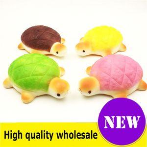 Squishy tortuga pan calidad Jumbo Slow Rising Soft Oversize Phone Squeeze toys Colgante Anti Stress Kid Cartoon Descompresión Toy