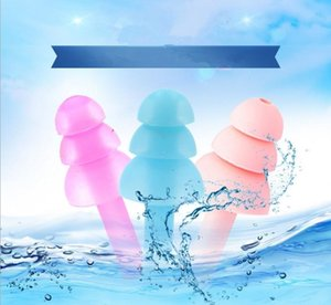 1pair Silicone Earplugs Swimmers Soft and Flexible Ear Plugs for travelling & sleeping reduce noise Ear plug 8 colors