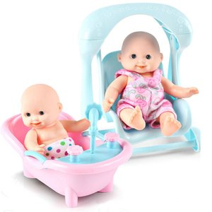 Мини Reborn Baby Dolls 12.5 см Новорожденных Детские Игрушки Ручной Работы Девушка Кукла Комплект Playhouse Ванна Игрушка для Детей Подарки с Чистой Сумкой