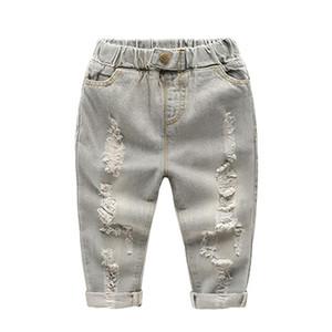 Humor Bear Brand Springummer Style 2017 Abbigliamento per bambini Ragazzi Ragazze Casual Jeans strappati per bambini Boy Girl Jeans