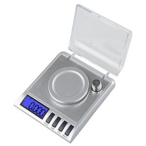 50g * 0.001g Mini alta precisione strumenti di pesatura digitale laboratorio medico bilancia elettronica bilancia tascabile con bilancia peso di calibrazione