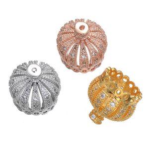 Commercio all'ingrosso 50 pezzi forniture per gioielli 13mm perline corona nappa tappi fai da te nappe orecchini con frange accessori micro pavimenta nappa raccordo