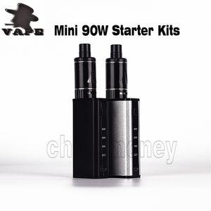 Authentic Mini Kits de démarrage 90W avec 2200mAh batterie 5ml atomiseur Vape Pen Box Mod Ecig DHL gratuit