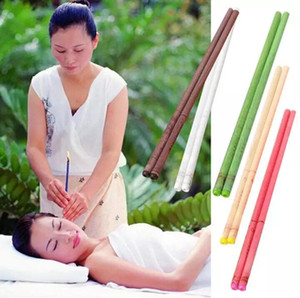Di alta qualità 1000 pz Therapy Natural Beewax Ear Candles Ear Care Candele Indiano Theraphy Ear Candle tcm terapia 8 colori