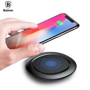 Qi sem fio carregador baseus fast carregamento sem fio pad para iphone x 8 plus samsung galaxy note 8 s8 s7 s6 borda wirless carregador