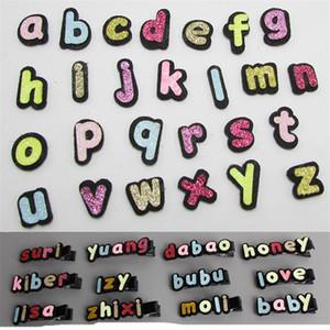 260 Pcs 26 lettres Nouvelle Mode Anglais Lettre Clip Combinaison Fille Épingle À Cheveux Cheveux Accessoires pour Enfants Barrettes