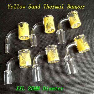 25mm OD XXL Balca termocromática de quartzo Domeless Thermal Banger Nails 10mm 14mm 18mm Masculino Fêmea Areia Amarelo Para Glass Bongs Hookah Rig