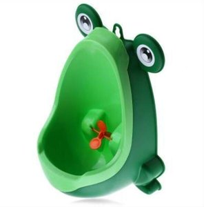 Recién llegado Baby Boy Orinal Toilet Training Rana Niños Soporte vertical Urinal Boys Penico Pee Infant Toddler Montado en la pared