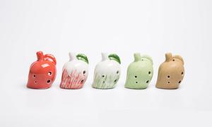 2017 6 buracos Ocarina atacado frutas modelagem brinquedos infantis instrumentos nacionais pequenos Ocarina artesanato