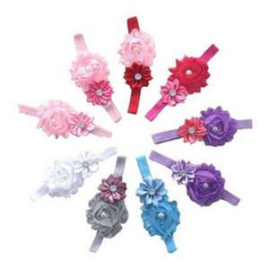 Baby Kristall Perlen Stirnbänder Kinder Haarschmuck Baby Blume Haarbänder Baby Blume Haarbänder für Kinder Mädchen