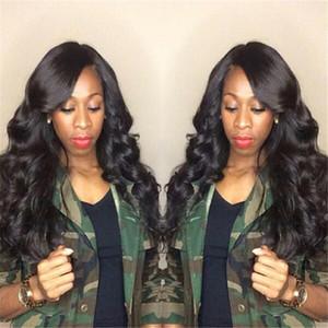 Cabelo Humano 150% Densidade densidade completa Virgin Malásia Grosso cabelo humano peruca Gluess Silk Top peruca cheia do laço barato peruca dianteira do laço
