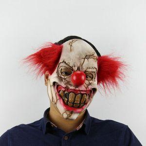 Weihnachten Rotten Gesicht Clown Latex Horror Maske Halloween Engage Bar Tanz Requisiten rote Haarmaske Kopfbedeckung