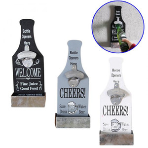 Wall Mounted Bar Beer Bottle Opener Fashion Classic Wall Cap Catching Beer Bottle Openers Home Wall Decoration