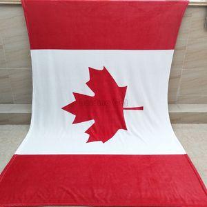 Kanada Birleşik Krallık Birleşik Devletleri Bayrağı Flanel Battaniye 150x200 cm Sıcak Yumuşak Mercan Polar Battaniye Taşınabilir Kanepe TV Battaniy ...