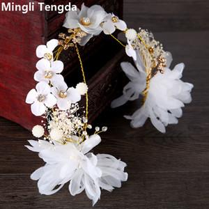 2018 New Fashion Fleurs Bridal Headwear Doux et Élégant Mariée Bandeau Accessoires de mariage cheveux pour femme chapeaux pour le mariage