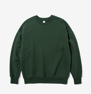 2018 Homme ashion loisirs manches longues Pull vert col rond