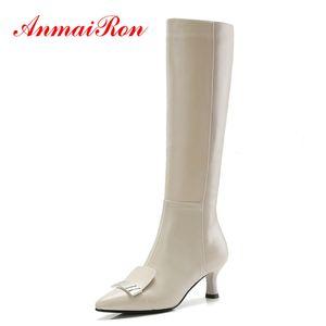 AnmaiRon Stivali al ginocchio punta a punta Donna Bella Hadid Bottini stivaletti 2018 Donna Taglia 34-40 ZYL1426