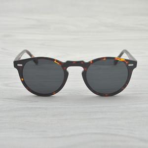 Vintage Polarize Lens Oliver Gregory Peck Marka Tasarımcı erkekler kadınlar Sunglass OV5186 Retro Güneş gözlüğü gafas óculos güneş gözlüğü
