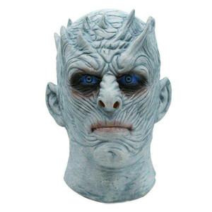 Halloween Kostüme Game of Thrones Nacht König White Walker Männer Vollkopf Maske Cosplay Halloween-Outfit