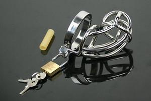 Dispositivo per castità maschile con catetere, gabbia per cazzi, cintura di castità, anello per pene, blocco verginità, gioco per adulti, anello per il pene