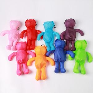 Cinese fabbrica cartone animato diretta carino multicolore a forma di orso shopping bag pieghevole pieghevole